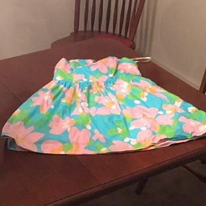 Lilly Pulitzer strapless floral print cotton dress
